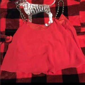 Charlotte Russe Red Crop Top Small